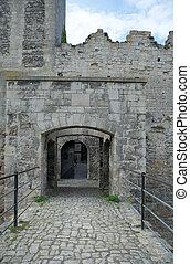 Gates of Rudelsburg castle, Germany - Gates of Rudelsburg...