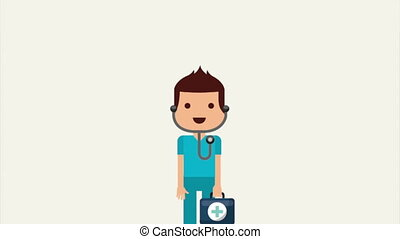 Medical design over white background, Video Animation,...
