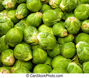 Brussel sprouts - close up of brussel sprouts