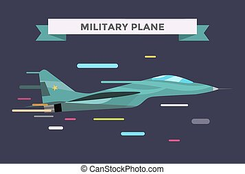 War military plane vector illustration War airplane sky...