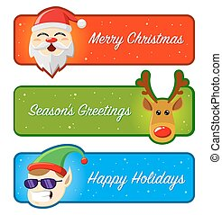 Happy Holidays and Christmas Banner - Happy Holidays And...