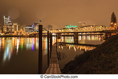 Landscape of Portland, Oregon, USA - View of Portland,...