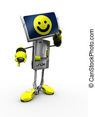 Robot with monitor