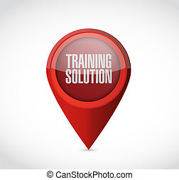 Training Solution pointer sign concept