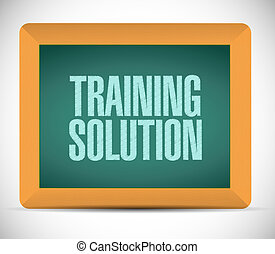 Training Solution board sign concept