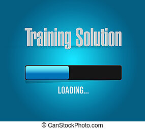 Training Solution loading sign concept