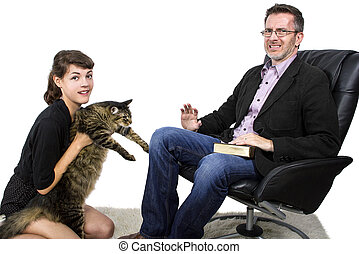 Allergic Father Dislikes Pet Cat - Allergic father dislikes...