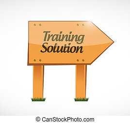 Training Solution wood sign concept