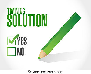Training Solution approval sign concept