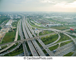 Aerial view of highway