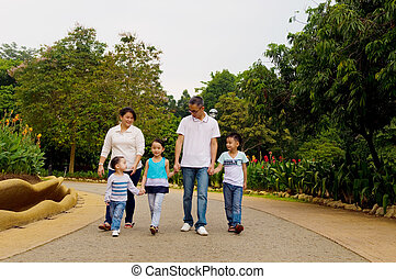 asian family outing