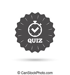 Quiz sign icon Questions and answers game - Vintage emblem...