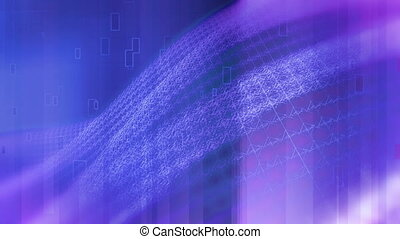 Blue Magenta Square Lattice loop - Animated background blue...