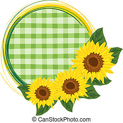 Ornament with sunflowers - Vector illustration of sunflowers...