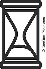 Sand Glass - Glass, hourglass, sand icon vector image. Can...