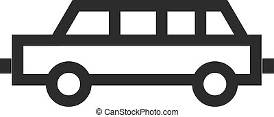 Limousine, car, long icon vector image. Can also be used for...