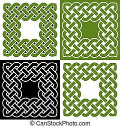 Celtic knot frames, vector illustration