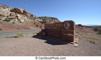 Capitol Reef National Park Entrance - Sign at the entrance...