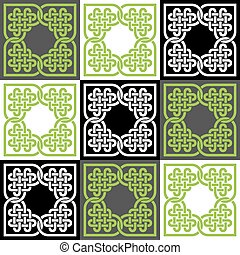 A seamless pattern made of Celtic style knots, vector...