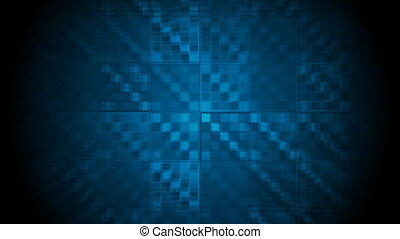 Dark blue hi-tech geometric video animation - Dark blue...