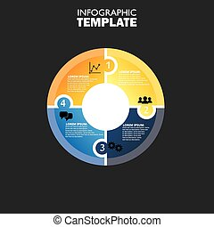 vector circle infographic template for cycle diagram this...