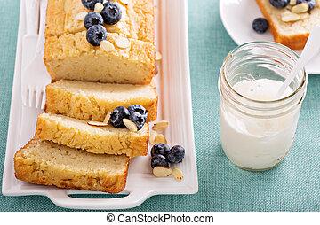 Lemon and almond pound cake - Lemon blueberry pound cake...