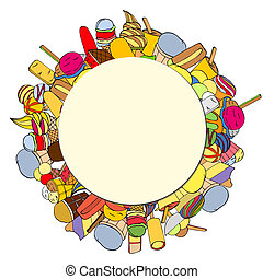 Circular Background - Dessert Circular Background with Copy...