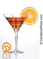 Summer in orange - Summer drink decorated with a slice of...