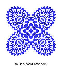 ornament - Rosette ornament Isolated on white art...