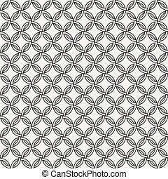 Retro pattern - lines, circles and diamond stars - Abstract...