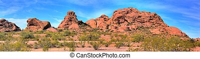Desert Mountains and Water Tanks - Papago park and water...