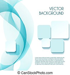 Smoky wave vector abstract background for brochure design -...