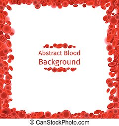 Blood cells frame for medical poster. Red human anatomy,...