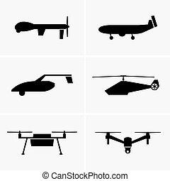 Drones - Set of six Drones