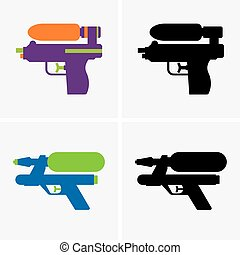 Water gun - Set of four Water guns