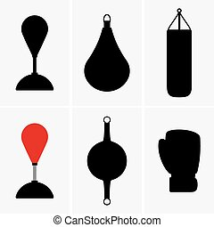 Punching bags - Set og six Punching bags
