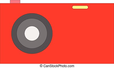 Photo camera - Old red Photo camera symbol, vector...