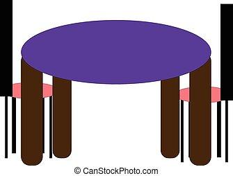 Stühle clipart  Vektor Clipart von stühle, tisch, runder - Round, tisch, und ...