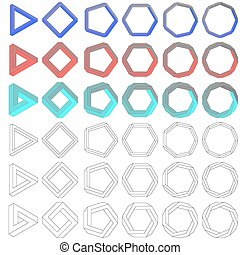 Collection of impossible Penrose polygons - Collection of...