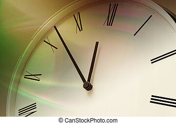 Close Up of Clock Face in Warm Tone