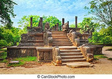The Council Chamber, Polonnaruwa, Sri Lanka - The Council...