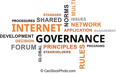 word cloud - internet governance - A word cloud of internet...