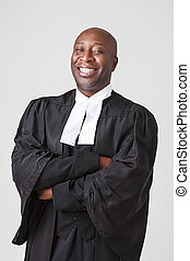 Happy smiling lawyer