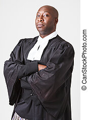 Portrait of a serious lawyer
