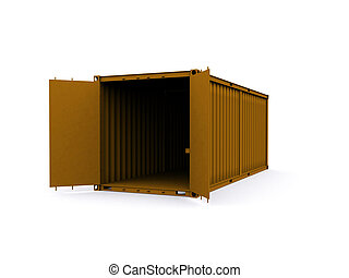 Container - A 3d made Container on a white background