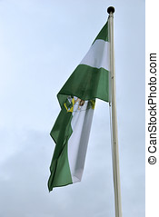 Bandera de Andalucia - Flag of the autonomous community of...