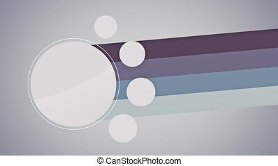 White circles with lines animation
