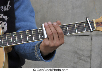 Guitar Player - A guitar player is playing guitar with a...
