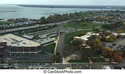 Aerial of the city of Buffalo