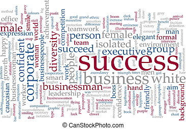 Success word cloud - Word cloud concept illustration of...